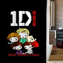 1D One Direction Boy Band Funny Shower Curtain