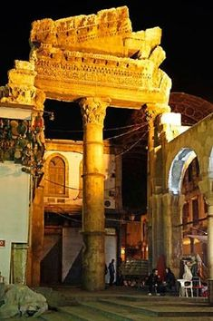 Old Temple, Gateway in Damascus, Syria WANDERLUST