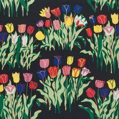 Josef Frank (Swedish, born Austria, 1885–1967), textile design Tulpaner, 1940s.