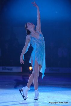 Ekaterina Gordeeva,- Blue Figure Skating / Ice Skating dress inspiration for Sk8 Gr8 Designs.