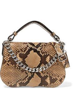 327319483d9 CALVIN KLEIN 205W39NYC Chain-trimmed python glamorous shoulder bag