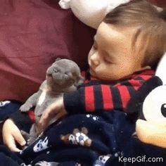 Awww my babies are sleeping