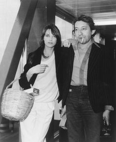 Serge Gainsboug et Jane Birkin à Londres, 1977