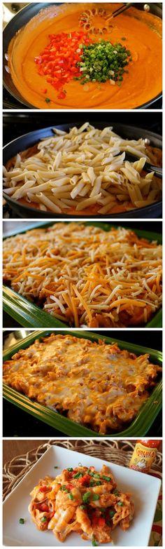 Cheesy Chicken Enchilada Pasta ~ Recipe Favorite