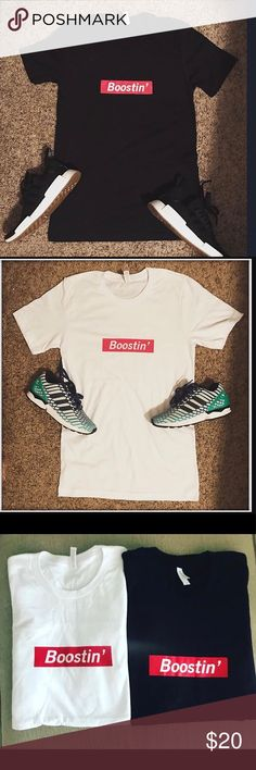 """save off ee676 3b03d I Got Sole """"Boostin"""" Box Tee Limited size White- 1 Large, 2 Xlarge Black- 1  Xlarge Other"""