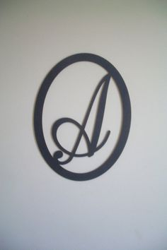 Black Wood Initial Choice of Letter A B C D by OakTreeArtWallDecor, $11.99