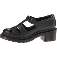 Dr. Martens Baby Open T-Bar Women's Shoes, Black (6.700 RUB) ❤ liked on Polyvore featuring shoes, stitch shoes, strap shoes, chunky heel shoes, t bar shoes and dr martens shoes