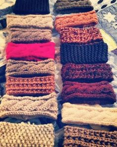 Love all of these cable knit headwraps