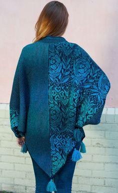 Designer Knitting Patterns, Fair Isle Knitting Patterns, Shawl Patterns, Knitting Designs, Double Knitting, Free Knitting, Poncho Outfit, Cardigan, Knitting For Beginners