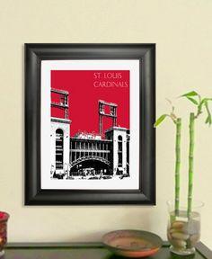 St Louis Cardinals Busch Stadium 1 Poster  St Louis by DBArtist, $20.00
