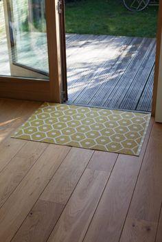 Pappelina Rug Carpet Honey Mustard Vanilla Plastmatta Mat