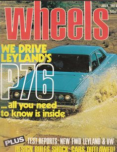 July 1973 Vintage Australian Wheels Magazine Birthday Idea or Christmas Idea for Him Leyland P76 by SuesUpcyclednVintage on Etsy