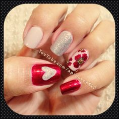 Mix and match nails - poppy nails art nails nail art day nails day nail art nail art nails nails art design ideas nails 2013 for fall nails Valentine Nails, Valentines Day, Nail Time, Remembrance Day, Hot Nails, Nail Nail, Nails Inspiration, Nail Ideas, Body Care