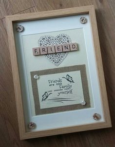 Handmade SCRABBLE ART FRAME Personalised Best by ScrabbleArtbyLou