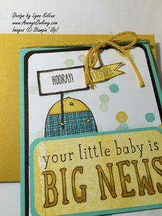 Stampin Up Big News Cheerful Critters AverysOwlery.com