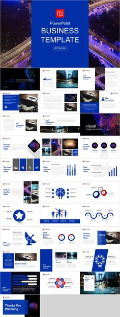 The blue theme of this business report PowerPoint template is the most common use pallet for business presentations. Professional Powerpoint Templates, Creative Powerpoint Templates, Microsoft Powerpoint, Infographic Powerpoint, Infographics, Business Plan Ppt, Business Powerpoint Presentation, Business Design, Business Company