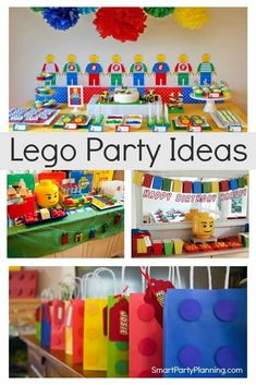 Awesome selection of Lego birthday party ideas that are fun, bright and full of excitement. These parties will provide you with plenty of inspiration for food, decorations and favors that the kids will love. This is a party theme that is great for girls and boys of all ages. A Lego party is definitely a cool party Lego Party Decorations, Lego Party Favors, Lego Themed Party, Lego Birthday Party, Boy Birthday Parties, 7th Birthday, Birthday Ideas, Silly Holidays, Party Themes For Boys