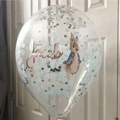 Peter Rabbit Personalised Confetti Balloon 16inch With Garland