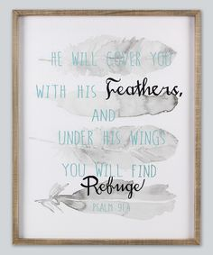 Loving this 'He Will Cover You' Wall Sign on #zulily! #zulilyfinds