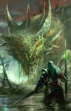 Facing eachn dragon