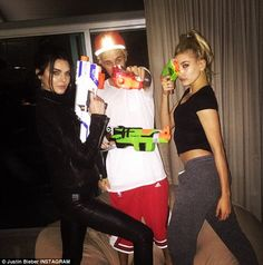 Justin Bieber & Kendal Jenner & Hailey Baldwin