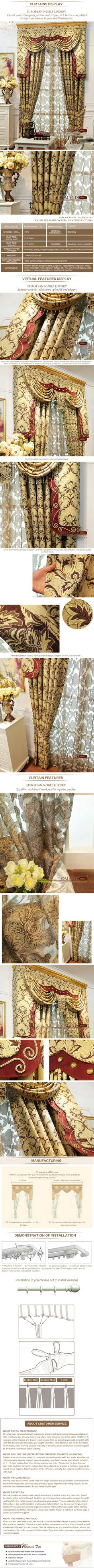 Luxury window curtain - Richly Madder $160  (60% off)