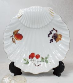 Royal Worcester Large Shell Dish Evesham Gold Pattern Vintage Porcelain  Table Ware Serving Dish By BelieveToBeBeautiful
