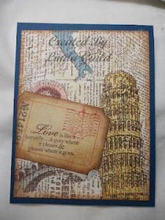 travel themed card designed by Vicki Bridges