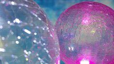 Lustre effect purple caused by application of RGB LED lighting onto crystal balls duo. Crystal Ball, Luster, Balls, Christmas Bulbs, Sky, Crystals, Lighting, Purple, Holiday Decor