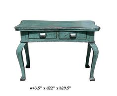 Rustic Blue Lacquer Claw Legs Desk Pedestal Table As1117 by Table & dining Set, http://www.amazon.com/dp/B005LDMJOG/ref=cm_sw_r_pi_dp_4FoEqb15TDAXC