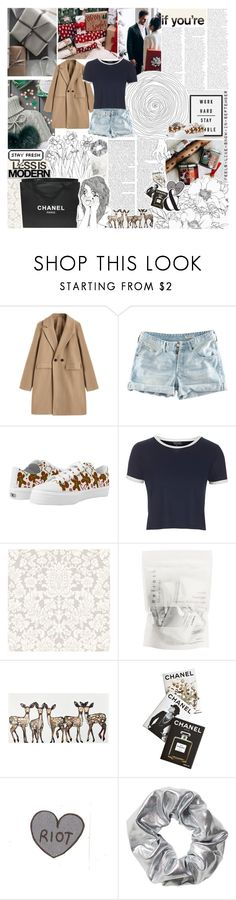 """Gift Wrapping"" by arrowette-845 ❤ liked on Polyvore featuring H&M, Topshop, Chanel, WALL, Assouline Publishing, Serfontaine and Monki"