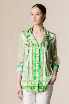 Camicia seta stampata stampa #fashion #dressingfab #silk #shirt #shopping #shoponline