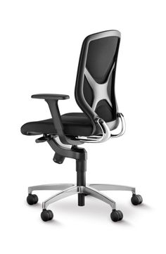 IN office chair black | New dimensions of dynamic sitting with our patented 3D kinematics called Trimension ®  | By Wilkhahn | #wilkhahnIN