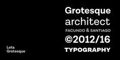 Lota Grotesque - Webfont & Desktop font « MyFonts
