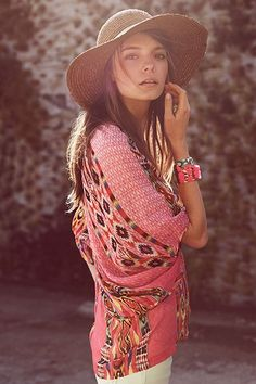 Sexy boho chic tribal inspired top. FOLLOW > https://www.pinterest.com/happygolicky/the-best-boho-chic-fashion-bohemian-jewelry-gypsy-/ NOW for the BEST Bohemian fashion &  carefree lifestyle trends.