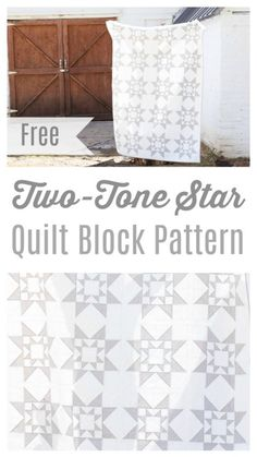 Modern, Two-tone Quilt Block Pattern, 6 1/2 yds white, 4 yds gray