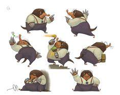 ArtStation - Mole - The Wind In The Willows, Nikolaj Djatschenko