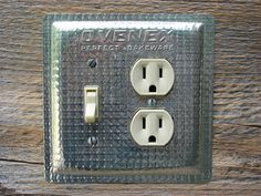 Vintage Kitchen Light Switch Covers Combo Outlet by tincansally, $34.00 Made from a new old stock Ovenex pan
