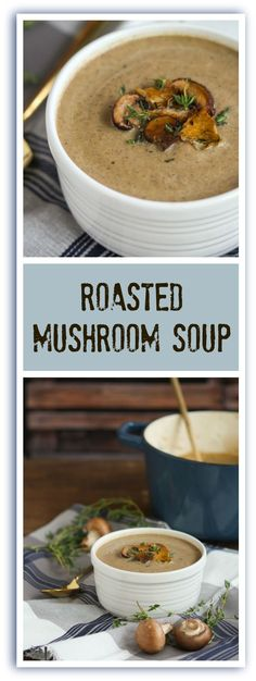 Grab your spoon and dig into this hearty, earthy roasted mushroom soup that's well seasoned and satisfying.