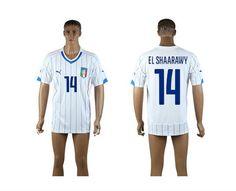 AAA+ Thailand 2014 Italy 14 EL SHAARAWY World Cup Away White Soccer Jersey prices USD $19.50 #cheapjerseys #sportsjerseys #popular jerseys #NFL #MLB #NBA