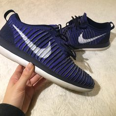 brand new b1fbf 57879 Nike Shoes   Nike Roshe Two Flyknit Sneakers   Color  Blue   Size  7
