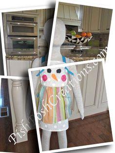 Cute Snowman Apron by pishposhcreations on Etsy, $22.00