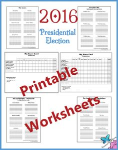 Printable Decision-Making Worksheets: 2016 Presidential Election | Suzanne Broadhurst at Home and Beyond