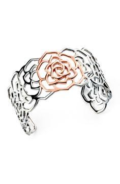 Rose Open Cuff Bangle