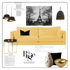 """Paris"" by viva-12 ❤ liked on Polyvore featuring interior, interiors, interior design, home, home decor, interior decorating, Fogarty, Tom Dixon and Whiteley"
