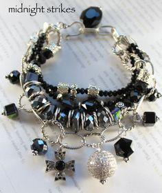 ON SALE bracelet spinel bracelet black spinel by soulfuledges