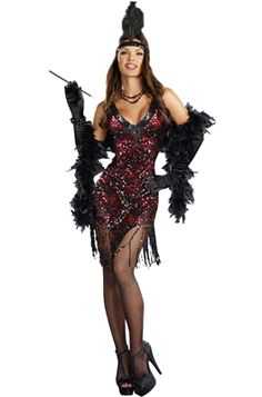 Womens flapper and gangster costumes for Halloween or any occasion. We have the largest selection of womens flapper and gangster costumes anywhere. Buy your womens flapper and gangster costumes from the costume authority at Halloween Express. Costume Sexy, Sexy Halloween Costumes, Costume Dress, Adult Costumes, Spirit Halloween, Gangster Costumes, Halloween 2013, Gatsby Outfit, Gatsby Costume