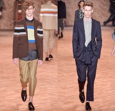 Colcci 2016 Winter Mens Runway Catwalk Looks - Inverno 2016 São Paulo Fashion Week Brazil Brasil Southern Hemisphere Moda Desfiles - Raw Denim Jeans Bomber Jacket Outerwear Coat Cropped Pants Trousers Suit Blazer Jacket Stripes Knit Sweater Jumper Pullover Shirt Tie Up Polka Dots