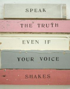 Even if your voice shakes
