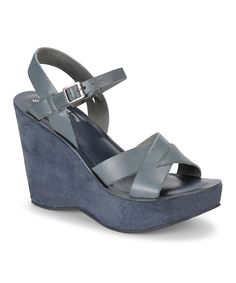 Big sale on Kork Ease!!!Take a look at this Jacket Bette Leather Wedge Sandal on zulily today!